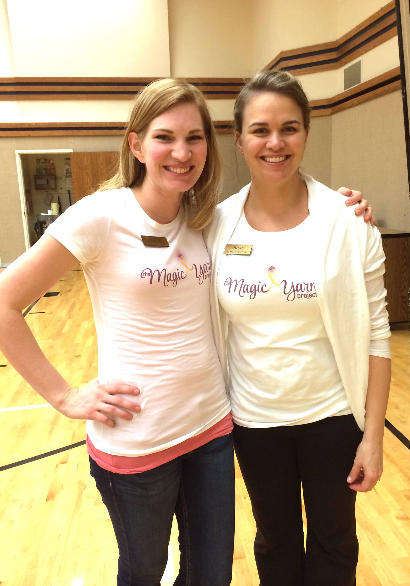 Holly Christensen, Bree Hitchcock. Co-founders, The Magic Yarn Project